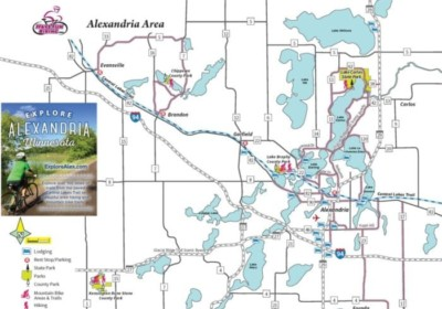 Alexandria MN Bike Map
