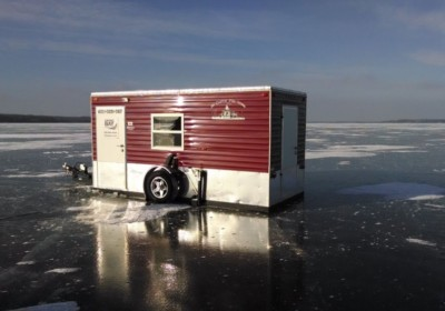 Viking Bay ice fisihng