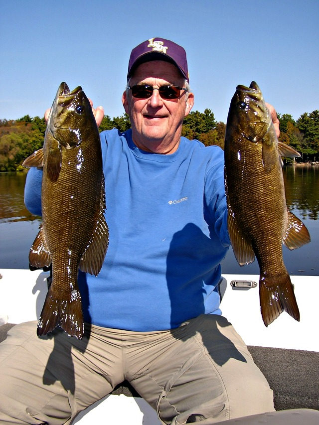 couple smallmouth bass