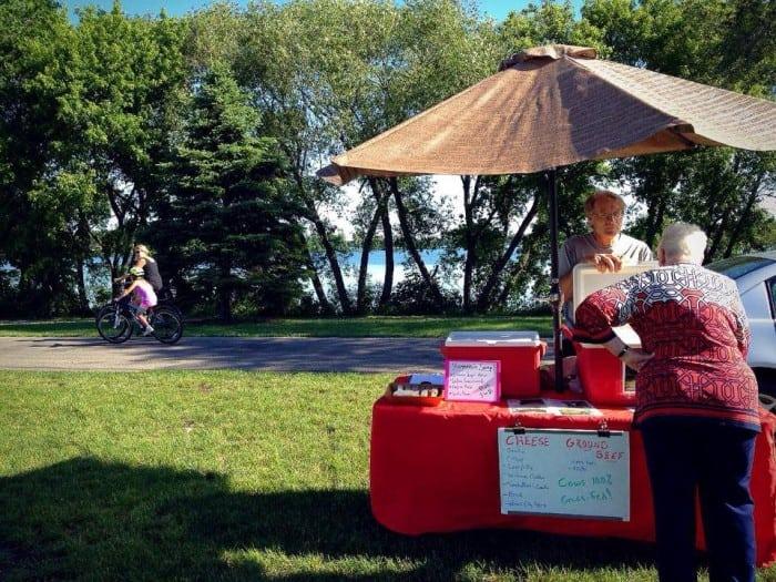 Big Ole Park farmers - bike lake