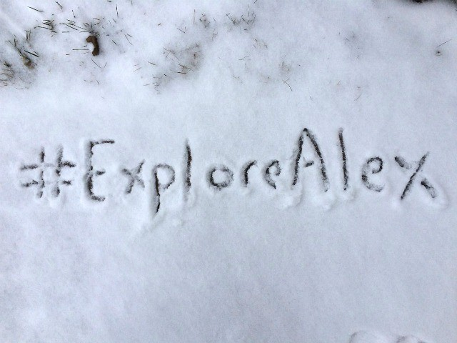 ExploreAlex Hashtag in the Snow