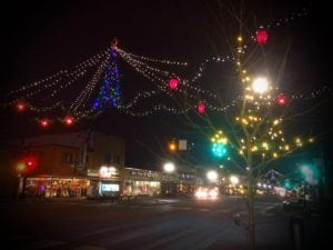 Downtown christmas night