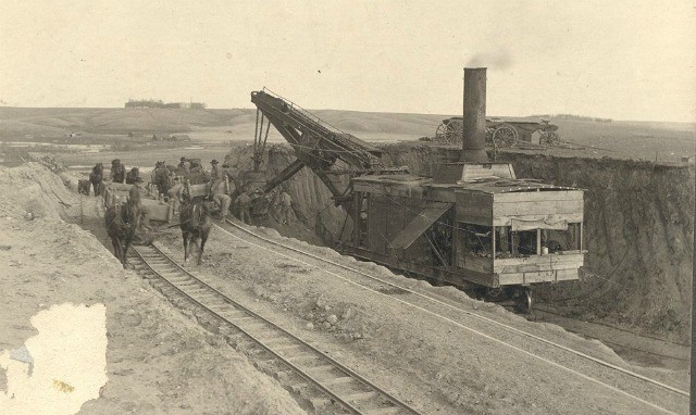 Picture of the railroad being built near Alexandria.