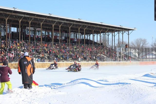 Snowmobile racing