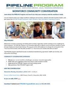 PIPELINE Program Workforce Community Conversation_Alexandria_12.03.2018