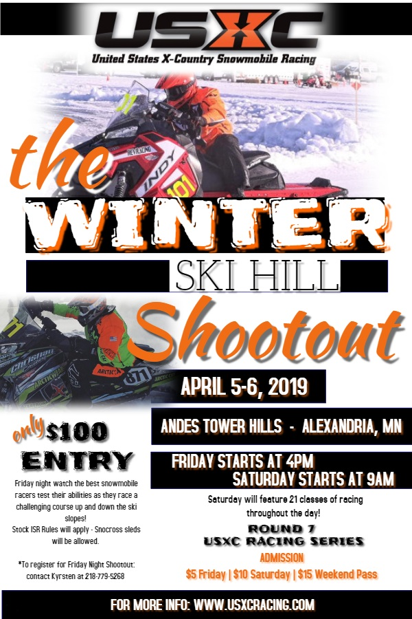 USXC Racing presents the Winter Ski Hill Shootout at Andes Tower Hills