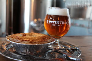Copper Trail beer and pies