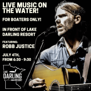Music on the water! Featuring the robb justice band