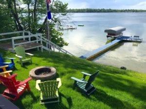 Lake Darling cottage lakefront