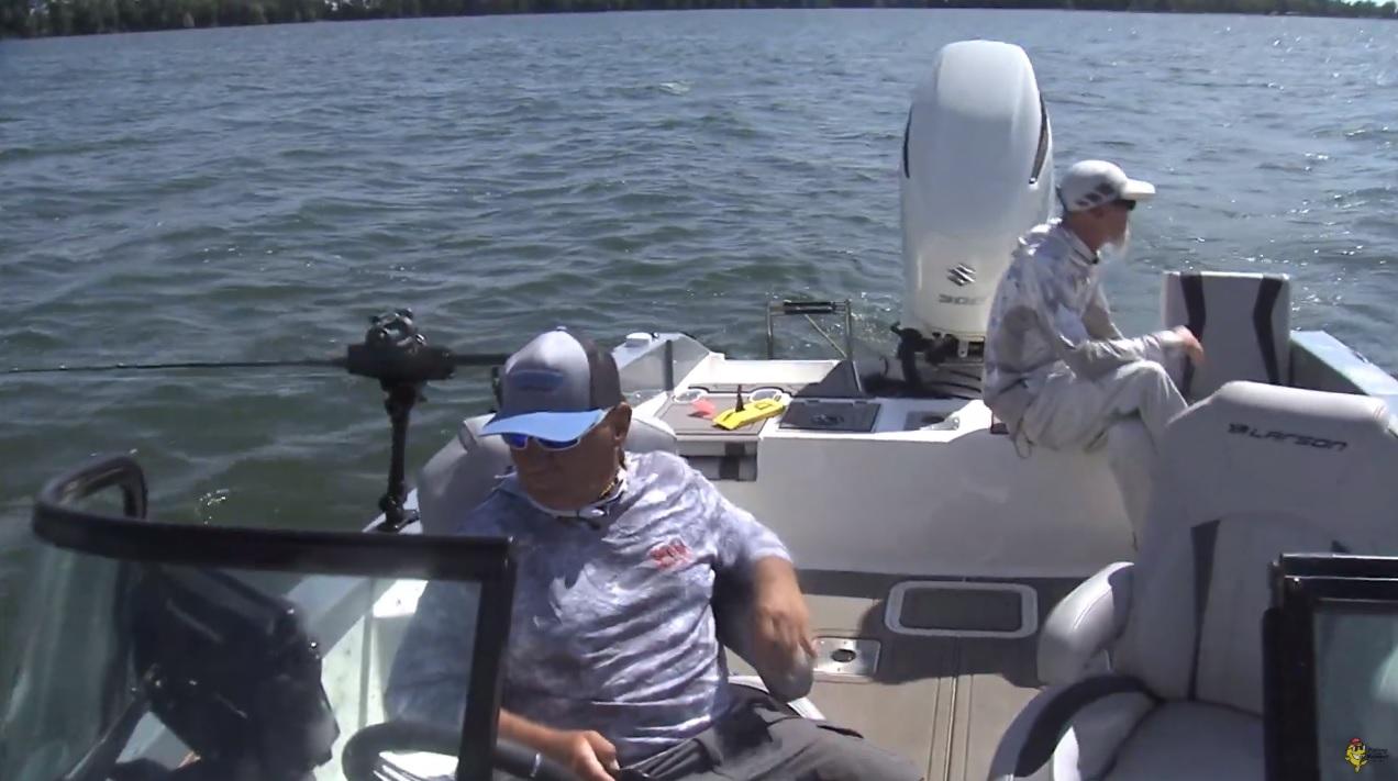 on the lake fishing