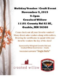 Crooked Willow Nov 2019 vendor and craft event