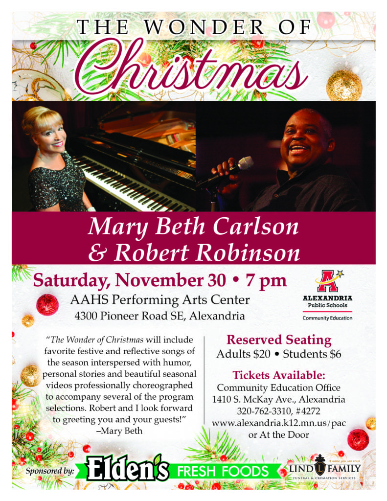 """The Wonder of Christmas""  Mary Beth Carlson & Robert Robinson"